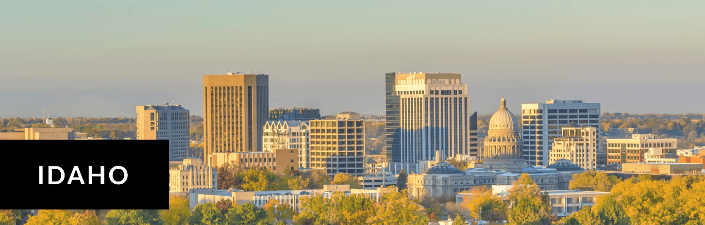 Cityscape during sunset in Idaho