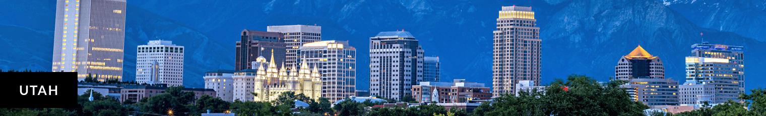 Drawing of buildings in Salt Lake City